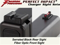 Dawson Precision Glock * Fixed Charger Sight Set - Black Rear & Fiber Optic Front