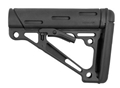 Hogue AR-15/M-16 OverMolded Collapsible Buttstock - Fits Mil-Spec Buffer Tube - Black Rubber