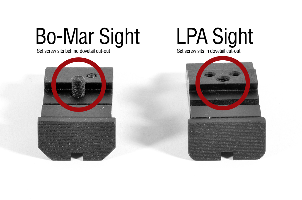 Egw Silverline Adj Rear Sight To Fit Lpa Para Springfield