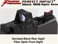 Dawson Precision Glock Gen5 G17/G19 MOS Fixed Co-Witness Sight Set - Black Rear & Fiber Optic Front(For Trijicon RMR and similar scope bases)