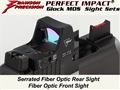 Dawson Precision Glock MOS Fixed Co-Witness Sight Set - Fiber Optic Rear & Fiber Optic Front