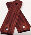 Ed Brown Laminate Checkered Grips Slim