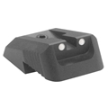 Kensight (DFS) 1911 Sights Fixed Rear Combat Sight, Artic White Dot, Recessed Blade - Fits Novak LoMount Sight Dovetail Cut