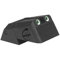 Kensight (DAS) 1911 Sights Adjustable Rear Combat Tritium Night Sights, Serrated Blade - Fits Novak LoMount  Sight Dovetail Cut