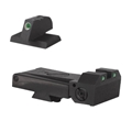 Kensight Kimber Adjustable Kensight 1911 Sight Set Trijicon Tritium insert - Night Sights - matching Flat Ramped Front Sight