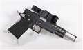 CK Arms Thunder Open Gun Slide Ride 9mm Black/Silver Controls 90 Degree Mount