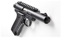 "Tactical Solutions Pac-Lite 4.5"" - Threaded - No Flutes - Matte Black-Integral rail-FO Front Red"