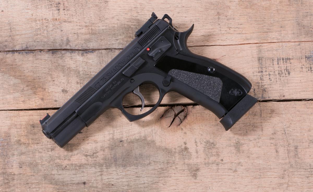 CZ 75 SHADOW Custom Black 9mm Adjustable Rear