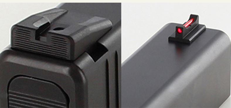 Dawson Precision Glock 43 Black Rear Fiber Optic Front