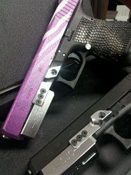 SJC Black Glock Frame Weight with Thumb Rest