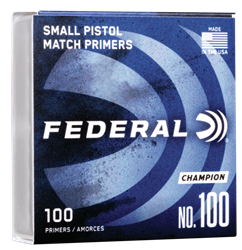 Federal Small Pistol Primers *In store Pick Up Only